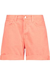 J Brand Kennedy Neon Denim Shorts Orange