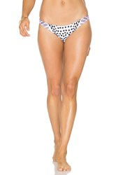 Mara Hoffman Ruched Brazilian Bottom White