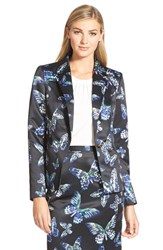 Women's Cece By Cynthia Steffe 'Floating Butterflies' One Button Jacket