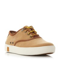 Timberland A15kc Canvas Cupsole Oxford Trainers Tan