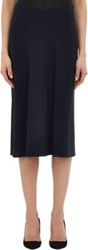 Derek Lam Chevron Seam Skirt Blue