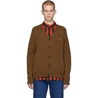 Acne Studios Brown Keve Face Cardigan