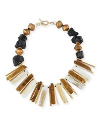 Akola Horn Bib Necklace Multi