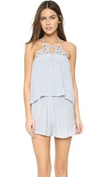 Ramy Brook Jilly Romper Silver