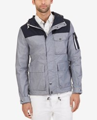 Nautica Men's Modern Hooded Parka Jacket True Navy