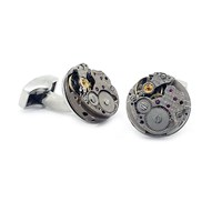 Lc Collection Upcycled Vintage Watch Cufflinks Silver