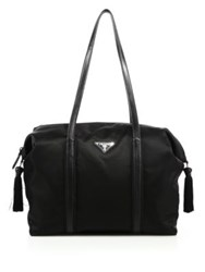 Prada Nylon And Calf Leather Tassel Duffle Bag