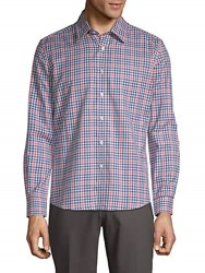 Hyden Yoo Checkered Cotton Button Down Shirt Multi