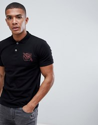 Bolongaro Trevor Logo Polo Shirt Black