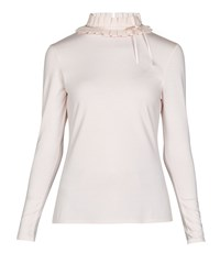 Ted Baker Ceeily Ruffle Neck Fitted Top Nude