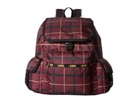 Le Sport Sac Voyager Backpack Modern Plaid Backpack Bags Brown