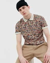 Pretty Green Target All Over Print Polo Multi