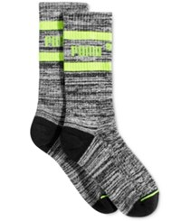 Puma Women's Mid Length Terry Tube Socks Black Yellow