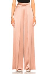Cushnie Et Ochs High Waisted Wide Leg Double Charmeuse Pant In Pink