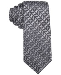 Alfani Men's Buckle Geo Slim Tie Only At Macy's Black
