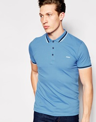 Dkny Short Sleeve Polo Shirt Blue