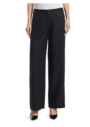 Saks Fifth Avenue Collection Wide Leg Pants Black