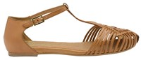 Ravel Anderson Ankle Strap Sandals Brown
