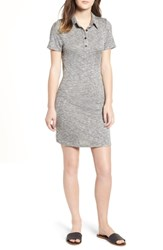 Love Fire Polo Dress Heather Grey