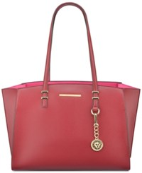 Anne Klein Head To Toe Large Tote Ruby Red