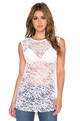 Twenty Webbed Crochet Tank White