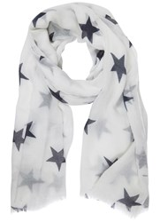 Mint Velvet Ivory And Ink Star Print Scarf Ivory