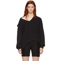 Alexanderwang.T Black Utility V Neck Sweater