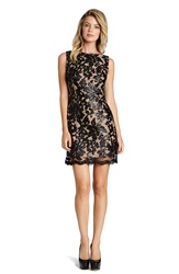 Dress The Population Sequin Lace A Line Dress Black Nude