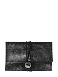 The Last Conspiracy Embossed Leather Wallet W Wrap Closure Black