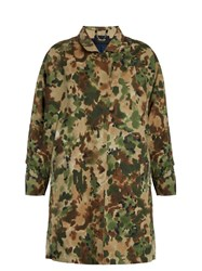 Rachel Comey Zia Camouflage Cotton Blend Trench Coat Multi