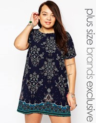 New Look Inspire Printed Tunic Bluepattern
