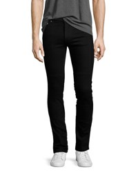 Kenzo Basic Stretch Denim Slim Fit Biker Jeans Black