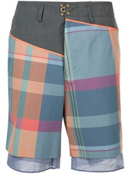 Kolor Plaid Bermuda Shorts Multicolour