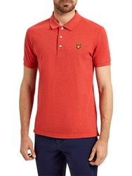 Lyle And Scott Marl Polo Shirt Flame Red Marl