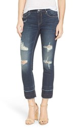 Vigoss Women's Chelsea Destroyed Slim Crop Jeans