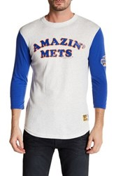 Mitchell And Ness Mlb Mets Extra Out 3 4 Length Sleeve Tee Multi