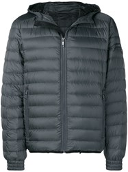 Prada Zipped Padded Jacket Grey