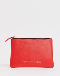 French Connection Leather Coin Purse Red