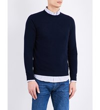 Slowear Crew Neck Cotton Jumper Navy