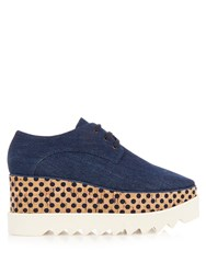 Stella Mccartney Elyse Lace Up Platform Shoes Denim