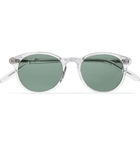 Our Legacy Void Acetate Round Frame Sunglasses White