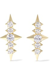Noir Jewelry Sirius Gold Tone Crystal Earrings One Size