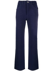 Barrie Knitted Flared Trousers 60