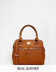 Modalu Small Pippa Leather Grab Bag Tan