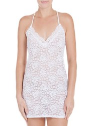 In Bloom Scalloped Neck Lace Chemise White