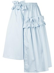 Paskal Ruched Asymmetrical Skirt Blue