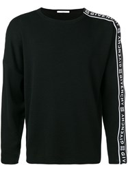 Givenchy Logo Stripe Jumper Black
