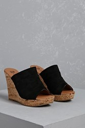 Forever 21 Ruched Faux Suede Wedges