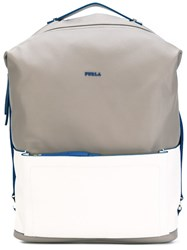 Furla Zipped Backpack Men Leather One Size Nude Neutrals