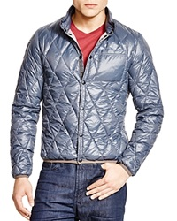 Jet Lag Packable Quilted Shirt Jacket Blue